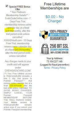 flirtcasualdate.com hidden charges